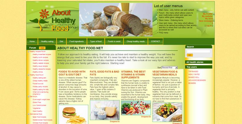 About Healthy Food image link